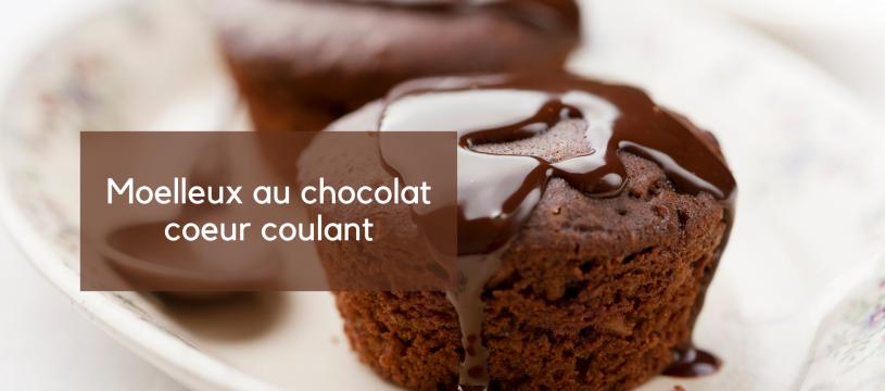 Moelleux au chocolat et son coeur coulant